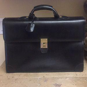 Black pebbled Cole Haan briefcase/attaché